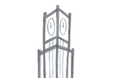 coluna da hora praça do ferreira desenho estilização