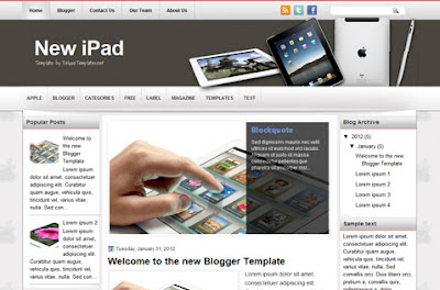 newipad blogger template