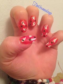 ghost nail art