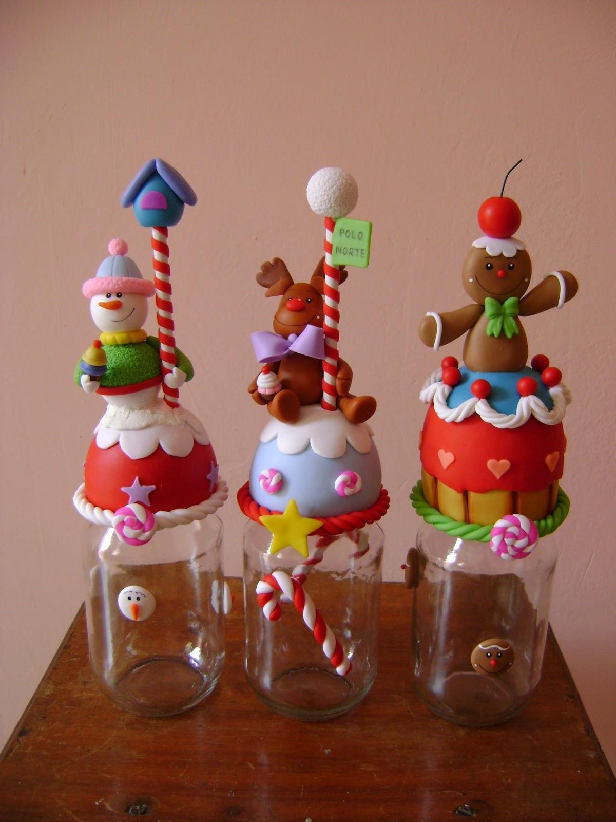 creaciones carolina curso de frascos de navidad decorados