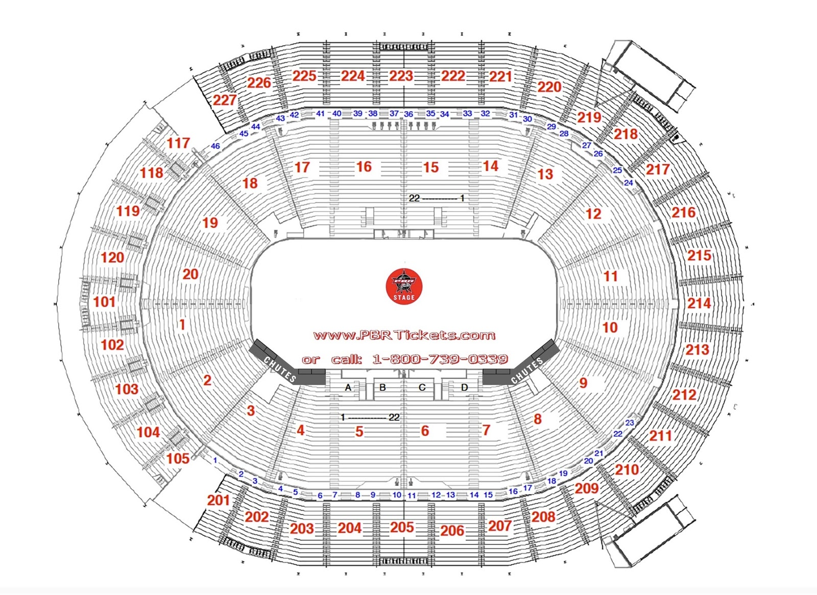 Las Vegas Arena Seating Chart George Strait Pbr World