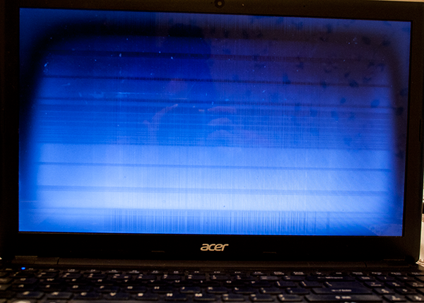 Broken Acer Laptop Screen