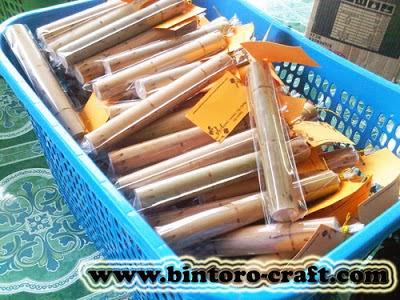 Undangan Unik Bambu Gulung Harga Murah