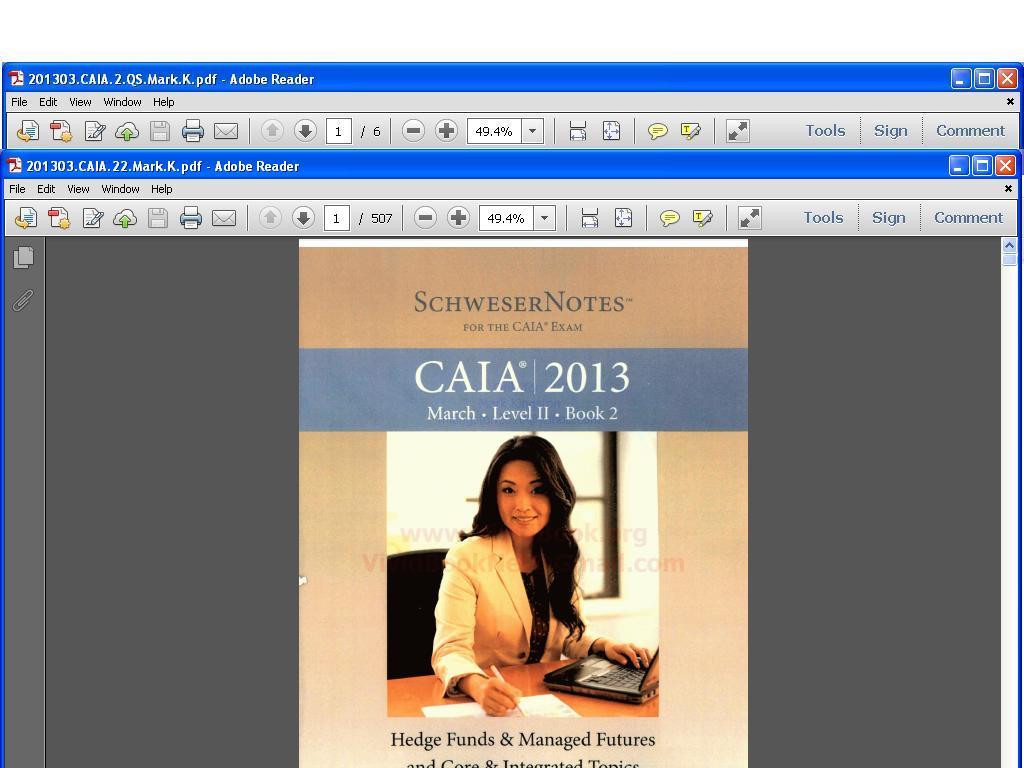 schweser caia level 1 pdf