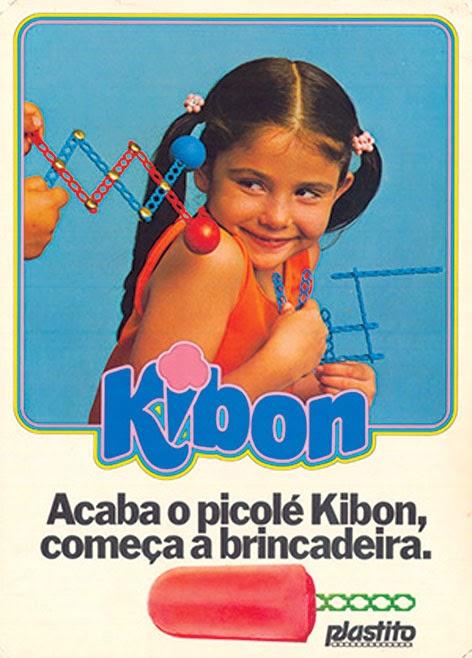Propaganda do picolé da Kibon em 1972 com palitos que viravam peças de encaixe.