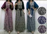 Gamis Spandex Corak SOLD OUT