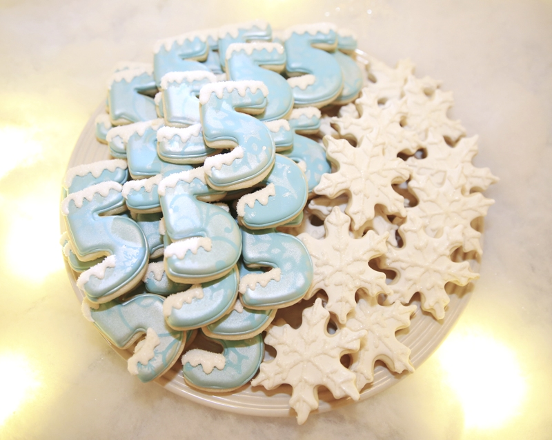 Frozen Inspired Birthday Party Cookies