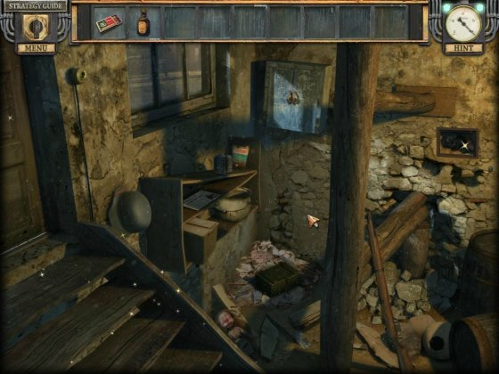 Silent Nights: The Pianist Collector's Edition. Screenshot of the abandoned basement.