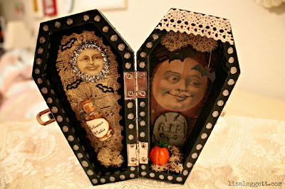 Halloween Moon Curio Coffin by Lisa Leggett