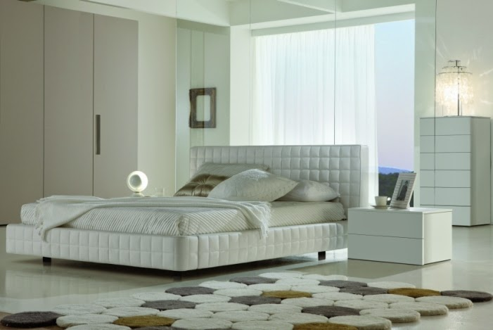 Modern minimalist style bedroom interior design