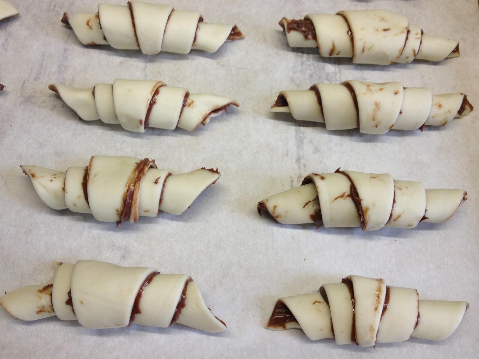 Bien-aimé architettando in cucina: Cornetti di pasta sfoglia alla Nutella KZ57