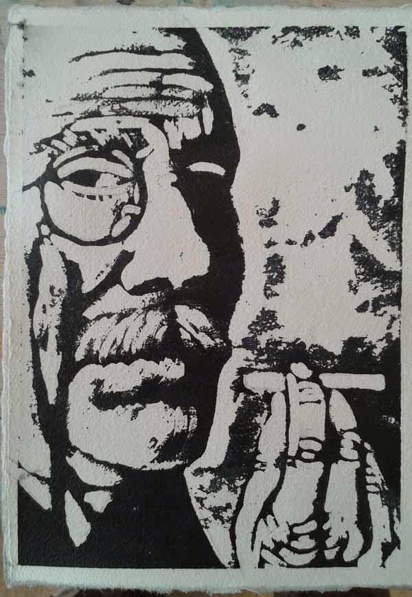 retrato de hombre con monoculo