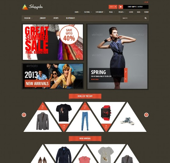 Shopolo Responsive Joomla Shopping Template