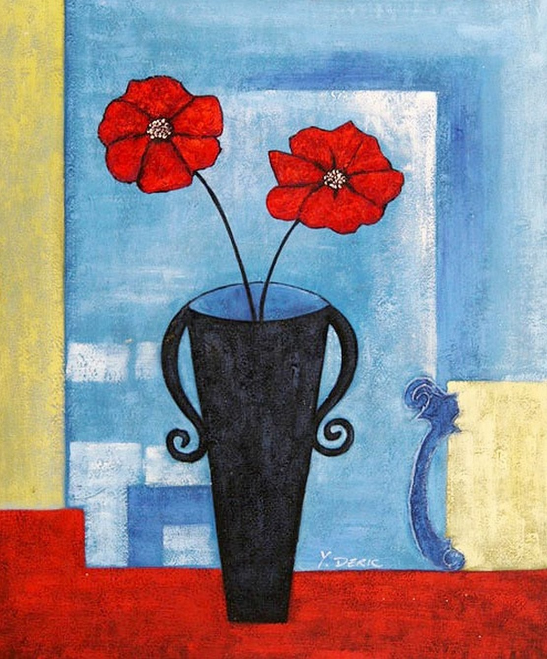 Cuadros modernos pinturas y dibujos flores pinturas al - Cuadros modernos faciles de pintar ...