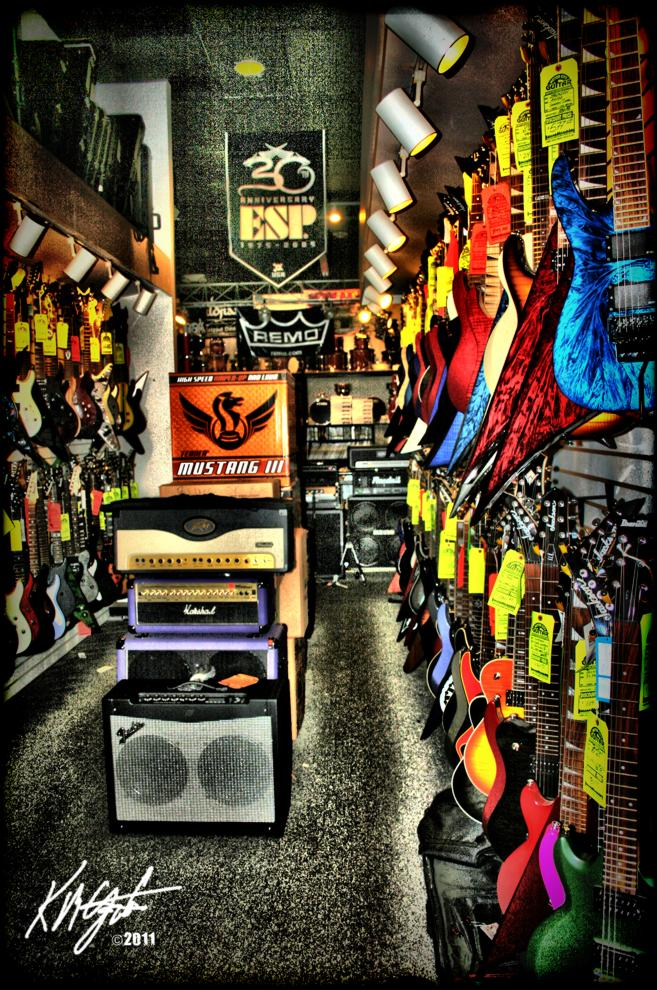 Gatzkart world of motor city guitar photopaint for Motor city guitar waterford