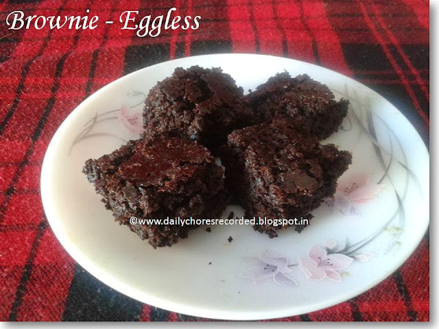 Brownie (Eggless)