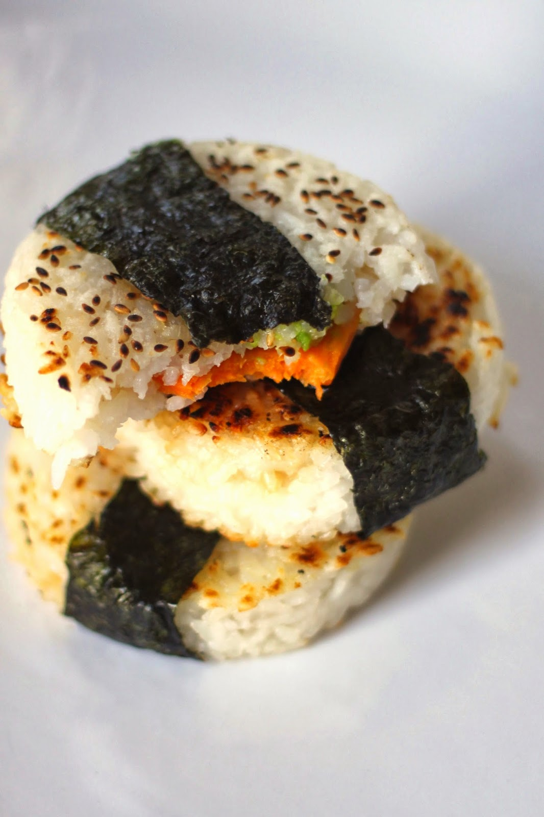 Jenessa's Dinners: Sweet Potato and Avocado Yaki Onigiri
