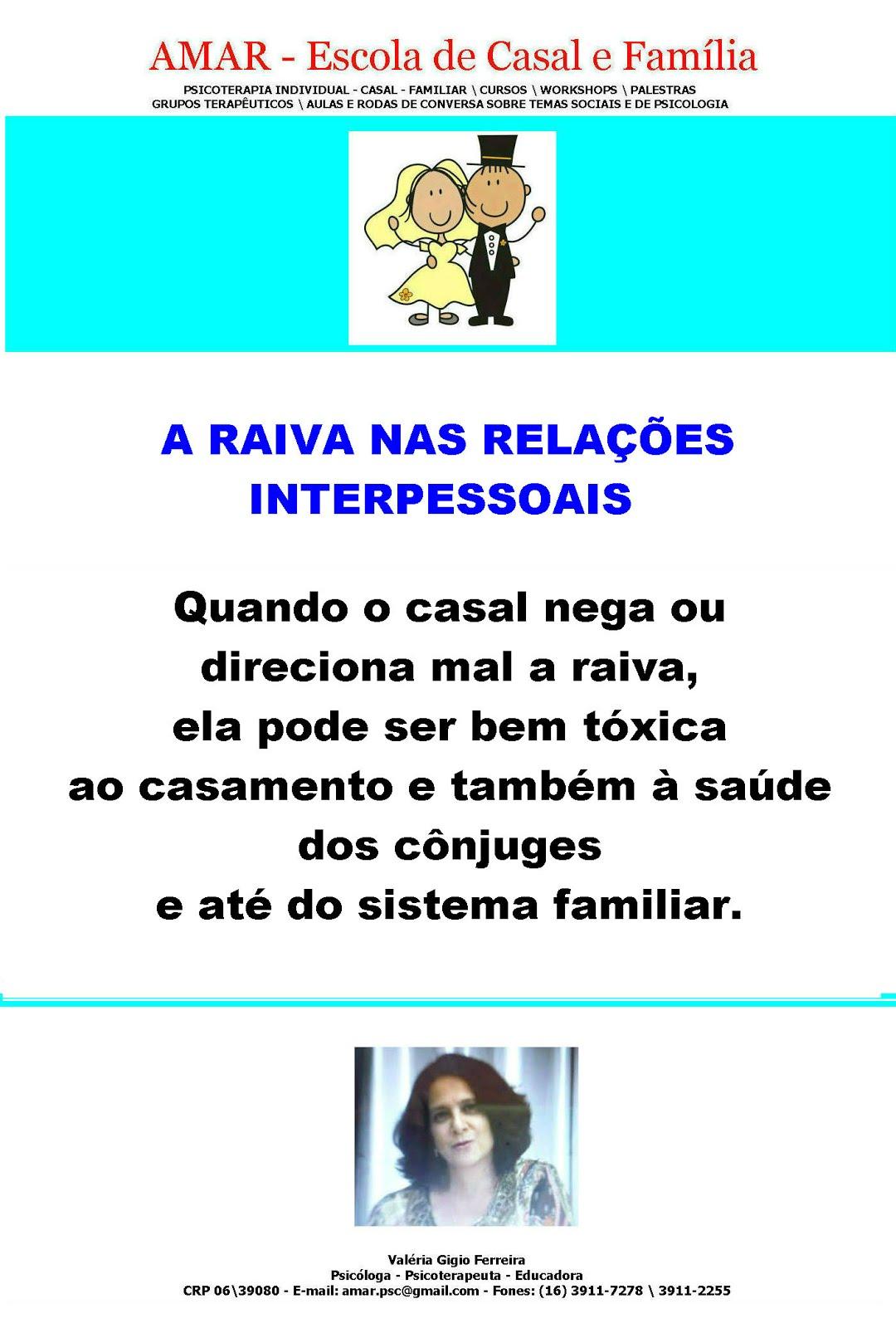 SOBRE A RAIVA NAS RELAÇÕES...