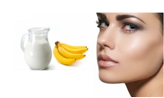 Banana and Milk for face and skin - Homeremediestipsideas