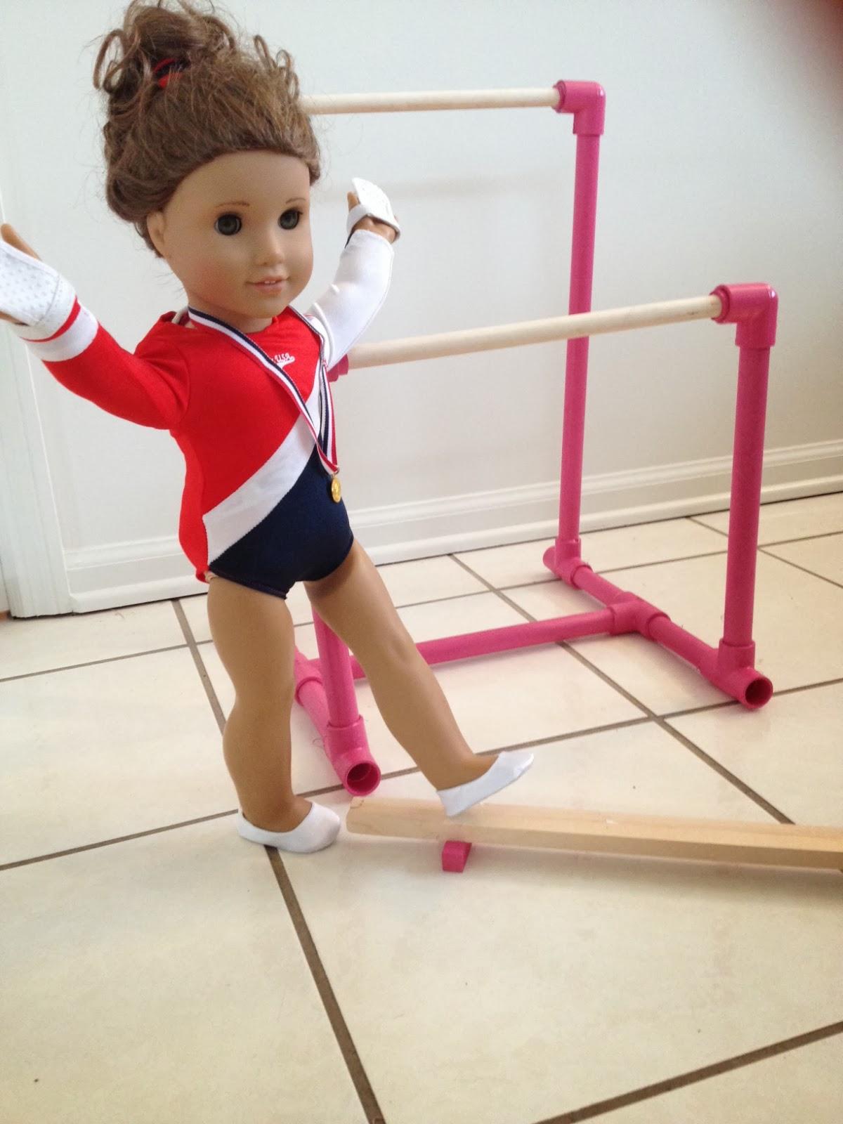 Two It Yourself Diy American Girl Balance Beam Gymnastics Set