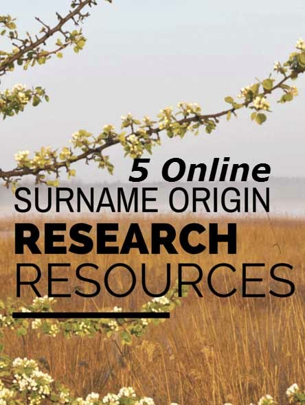 Surname Origin Research Resources