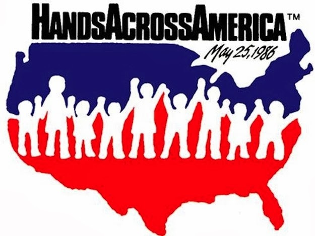 Hands Across America — and even if you didn't participate you still wore the T-shirt