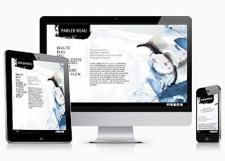 parler beau responsive website design