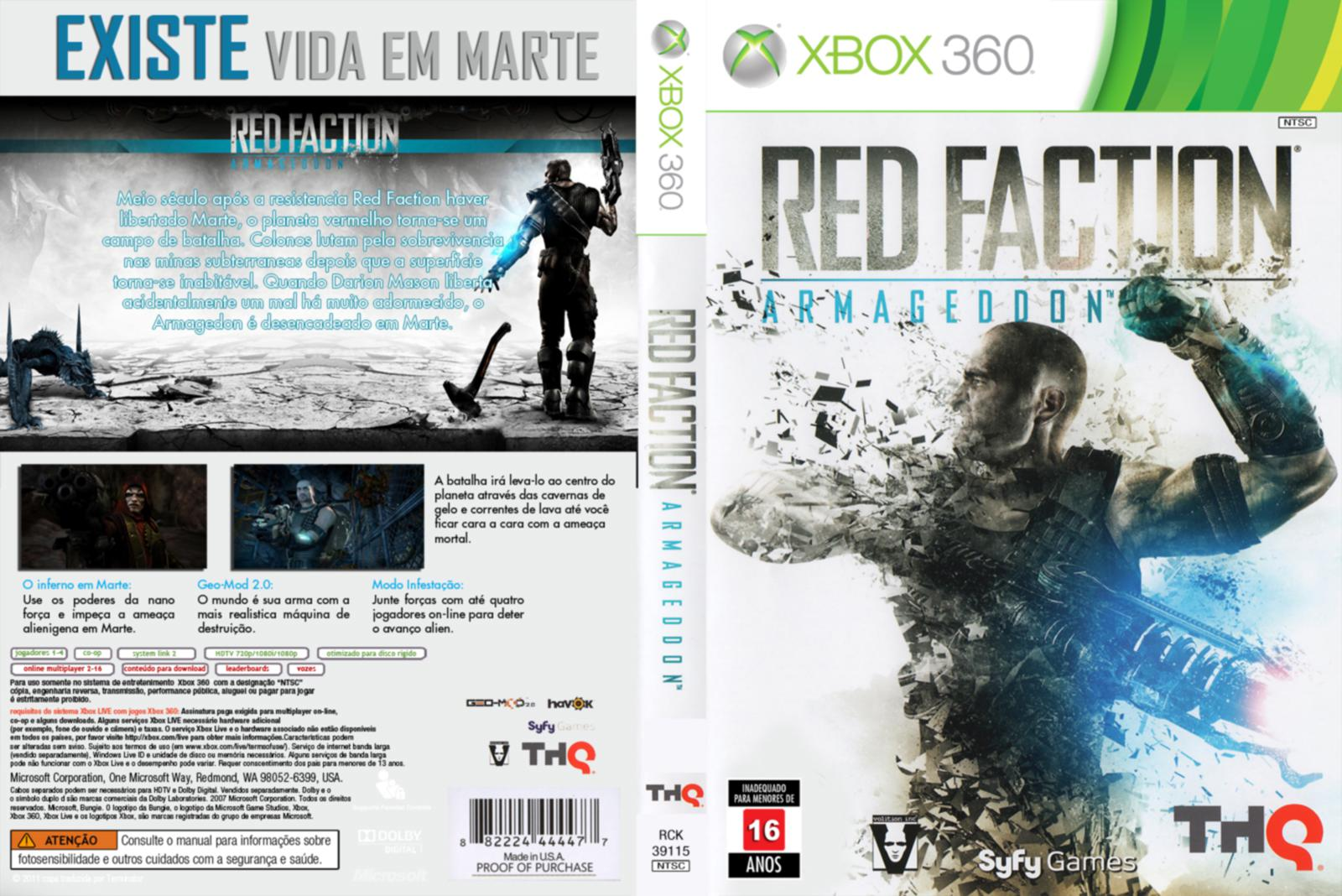Capa Red Faction Armageddon Xbox 360