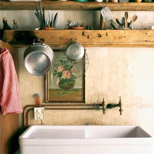 Rustic Kitchen Sink: Moon To Moon: Bohemian Kitchen Interiors