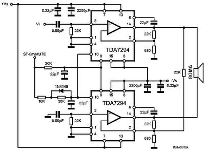 Ic Tda7294 120 Watt Audio Power