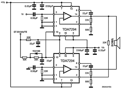 Ic Tda7294 120 Watt Audio Power on s1 wiring diagram