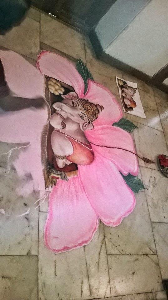 Ganesha Rangoli 37