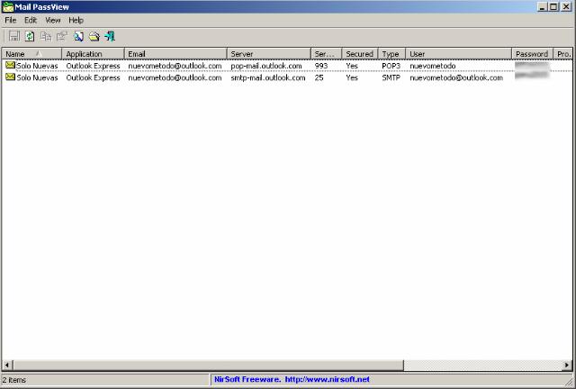 Uso y abuzo de MailPassview para revelar la clave de un correo electrónico