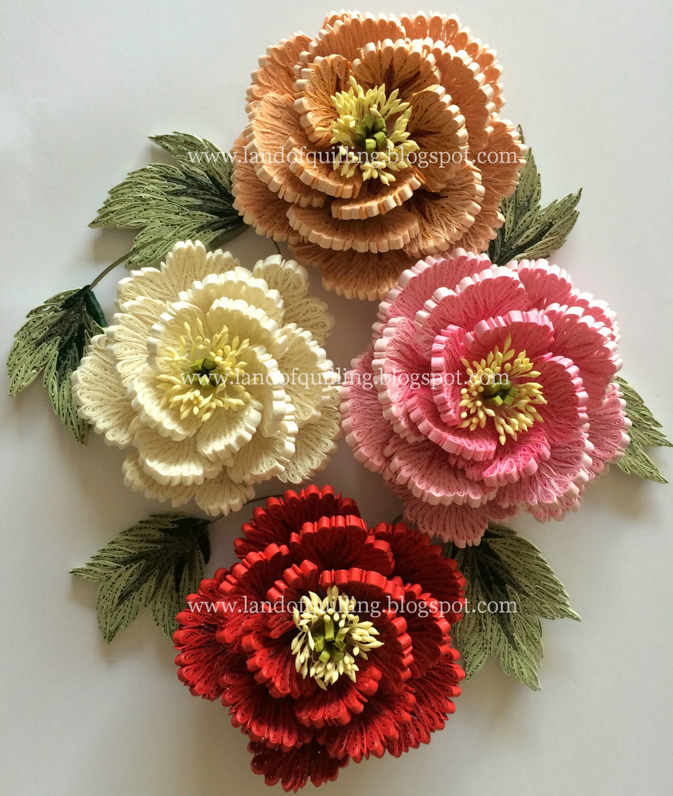 quilled peonies the art of quilling