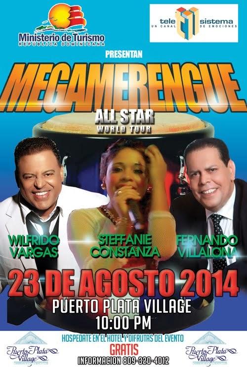 El MegaMerengue World Tour llega a la novia del Atlántico Puerto Plata este Sábado 23 de Agosto