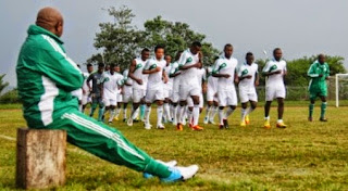 Stephen Keshi training Super Eagles