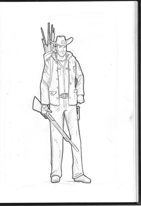 free coloring pages of rick grimes