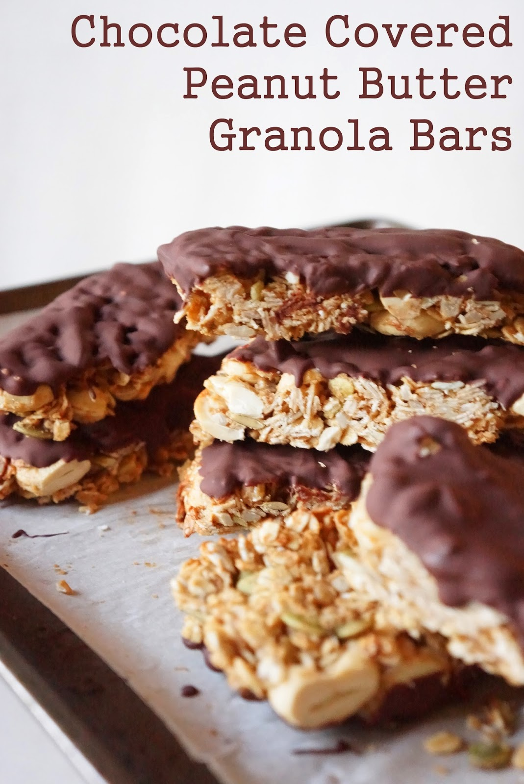 chocolate covered peanut butter granola bars