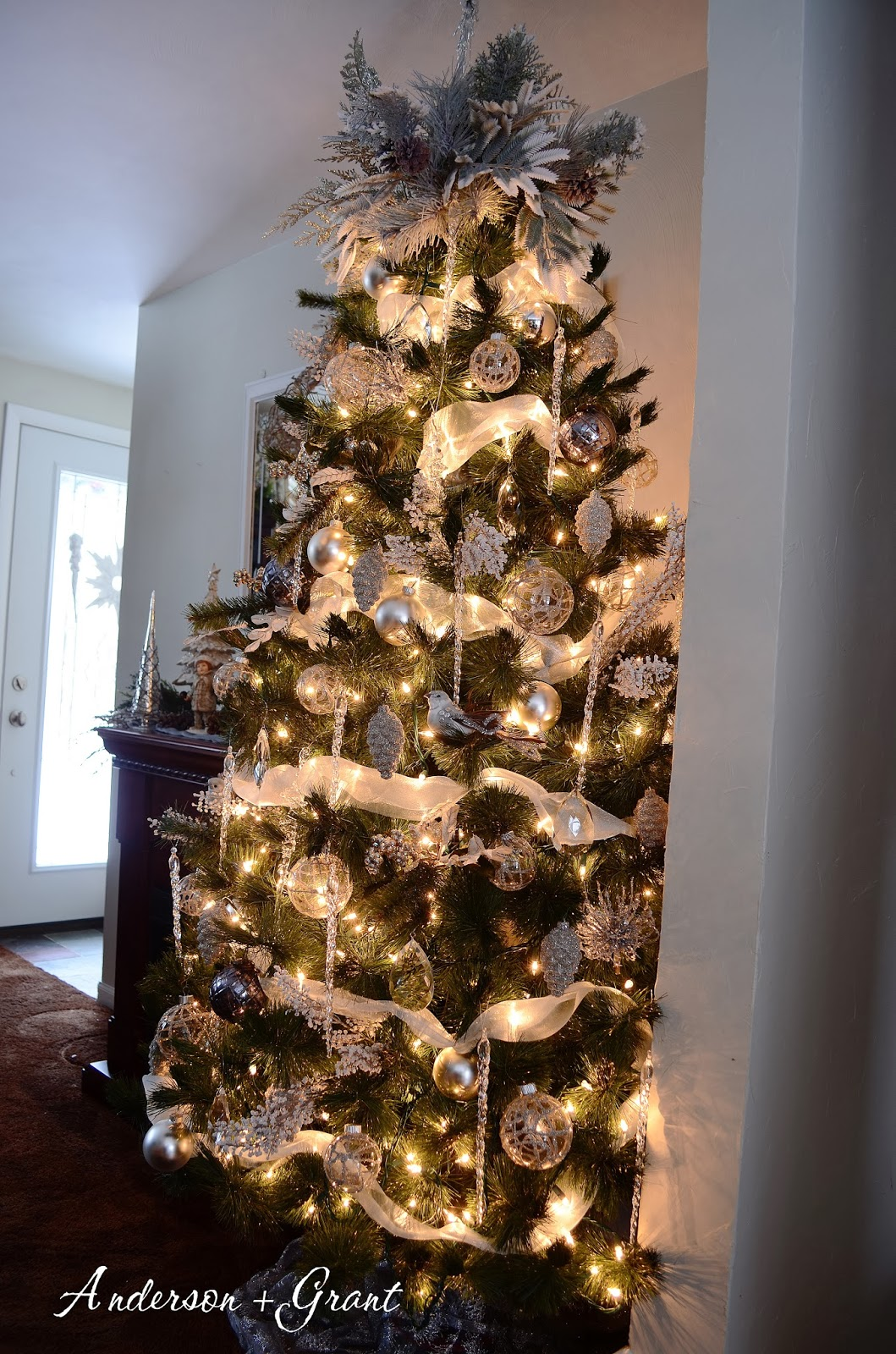 White And Silver Christmas Tree Skirt