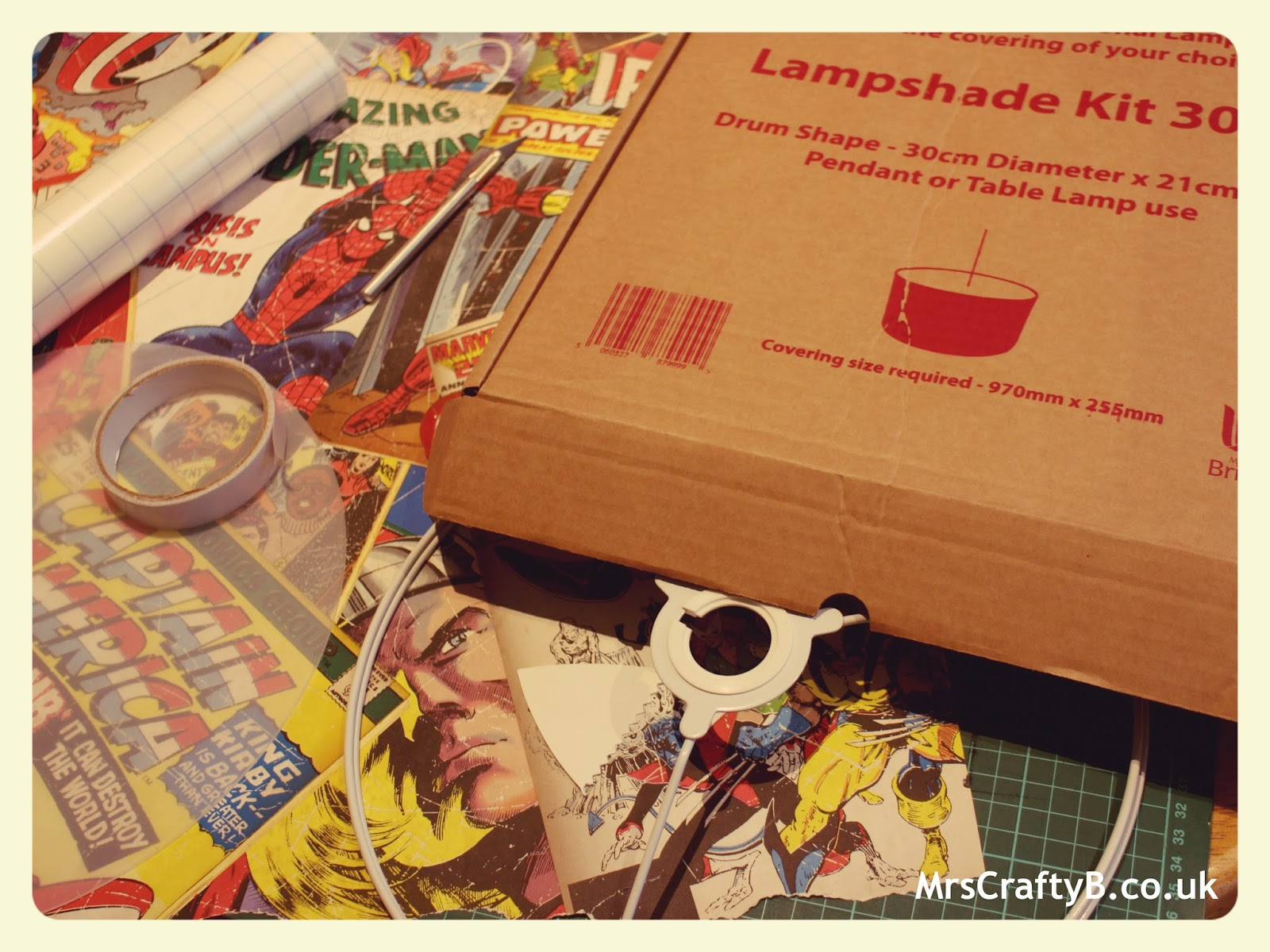 I Collected Together My Lampshade Making Kit A Diffuser Which Bought Alongside The Cutting Mat Craft Knife And Wallpaper