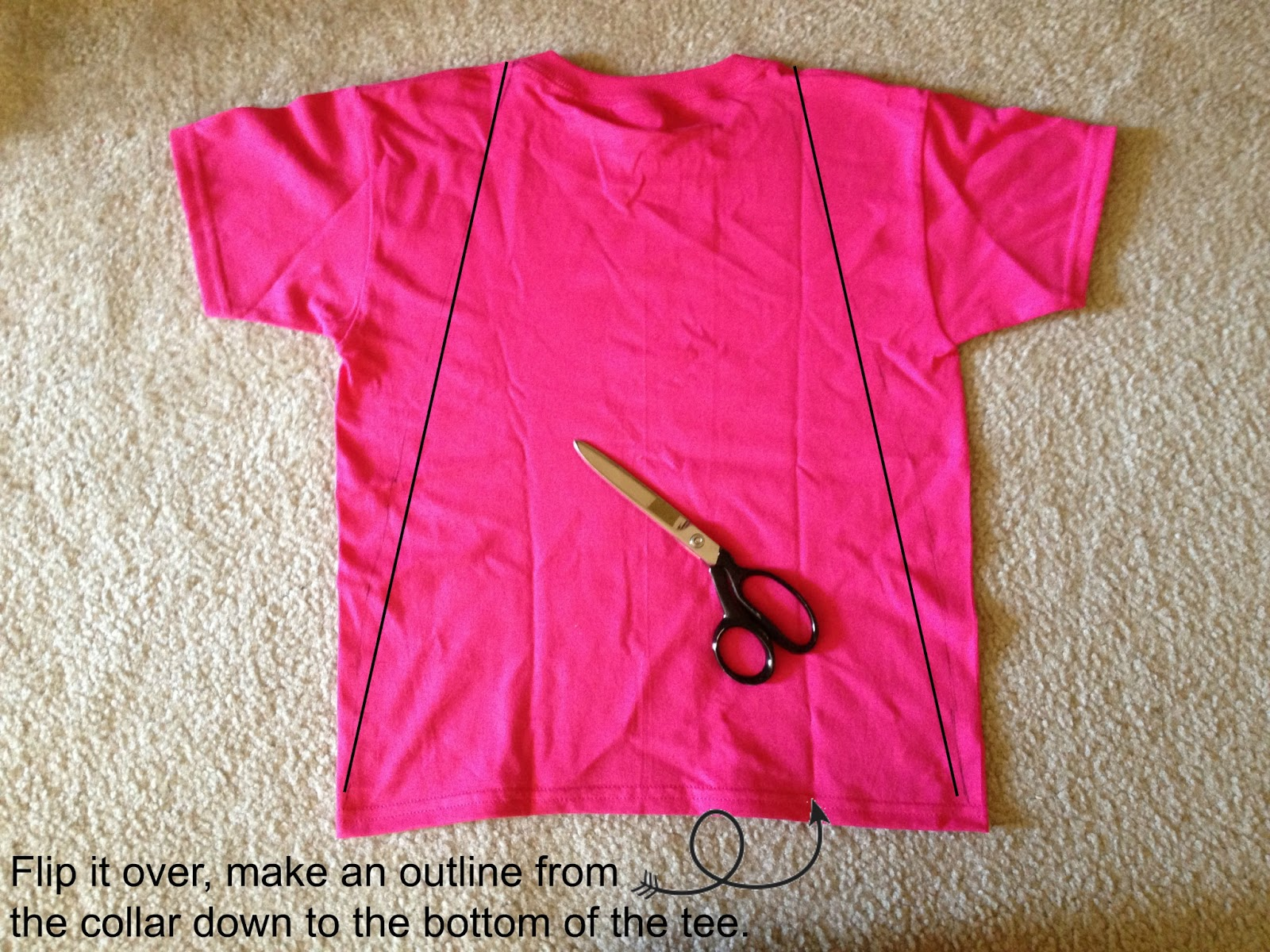 Tutus and tea parties diy superhero cape tshirt upcycle for Make your own t shirt design at home