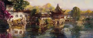 Paisajes de China Cuadros Chinos al Oleo Mao Yigang
