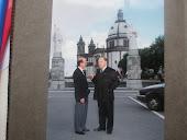 Ten. Ventura Vaz, com o Guedes, no Sameiro em Braga
