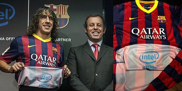 Intel Inside, Intel sponsor of FC Barcelona, new tech,