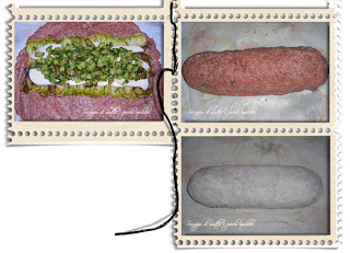 Preparazione del Polpettone con zucchine e provola
