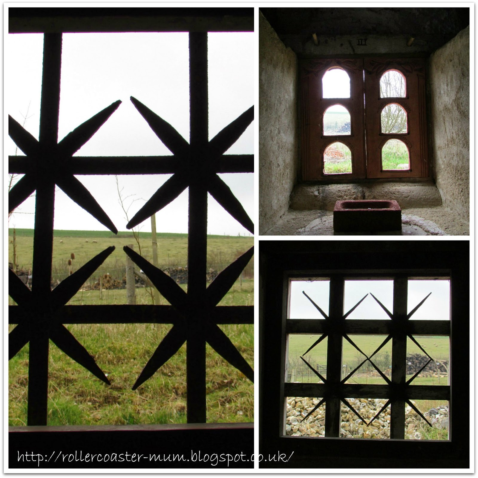 window patterns, Roman Villa,  Butser Ancient Farm