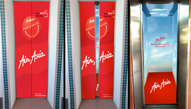Air Asia Top 27 Creative Elevator Advertisements