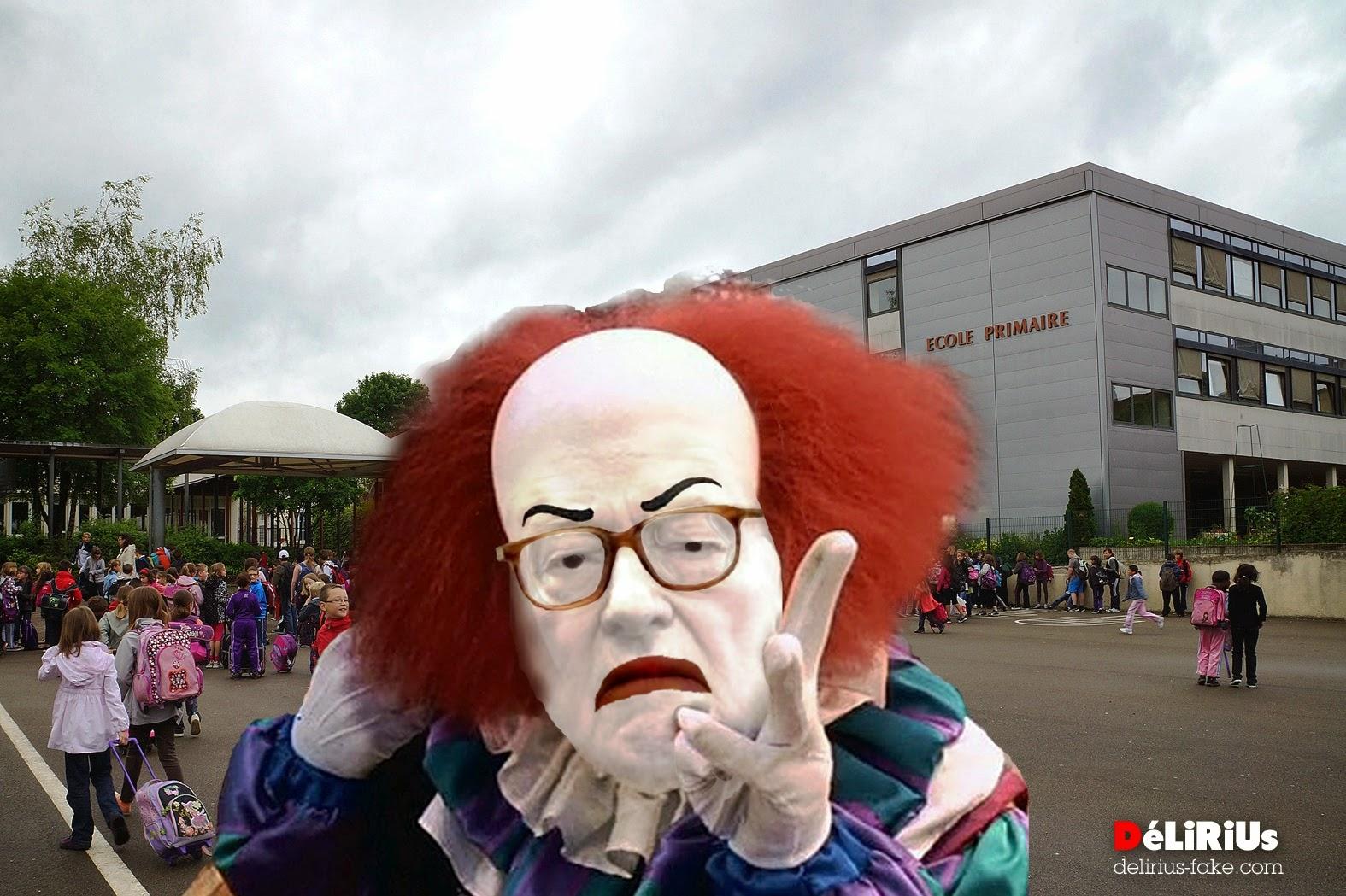 Un clown qui fait peur aux enfants et aux parents