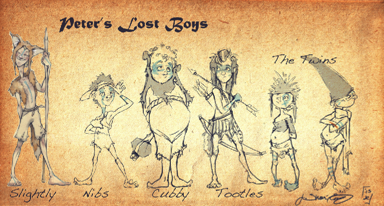 Peter pan 1953 lost boys