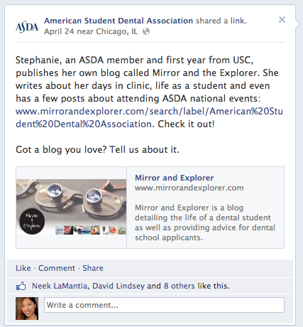 Mirror and Explorer Dental School Blog